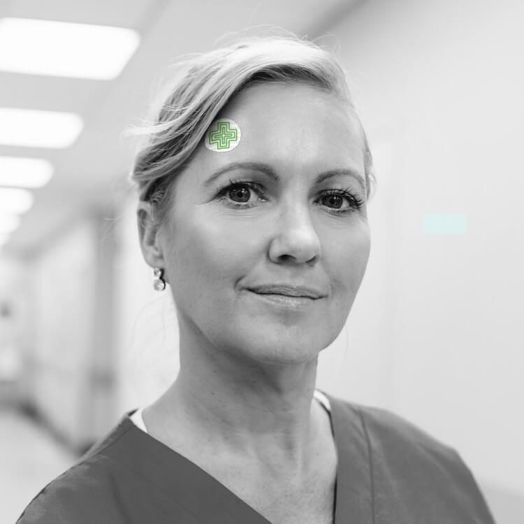 Nurses benefit from temperature indication discs