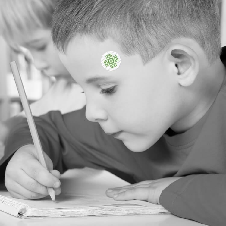Visual temperature indicator is perfect for school children